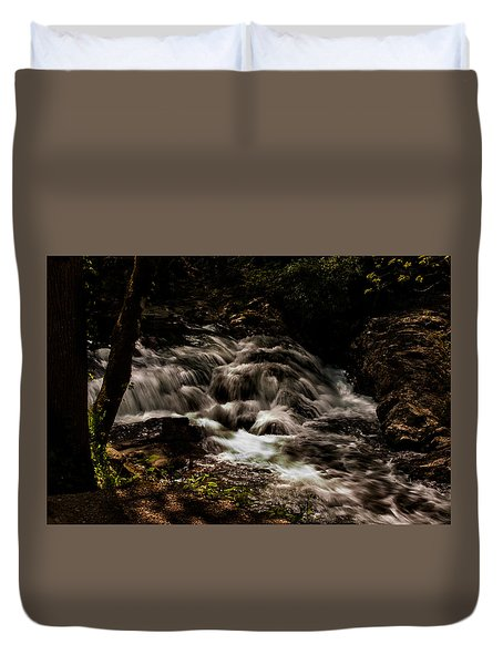 Smoky Mountain Waterfall Duvet Cover