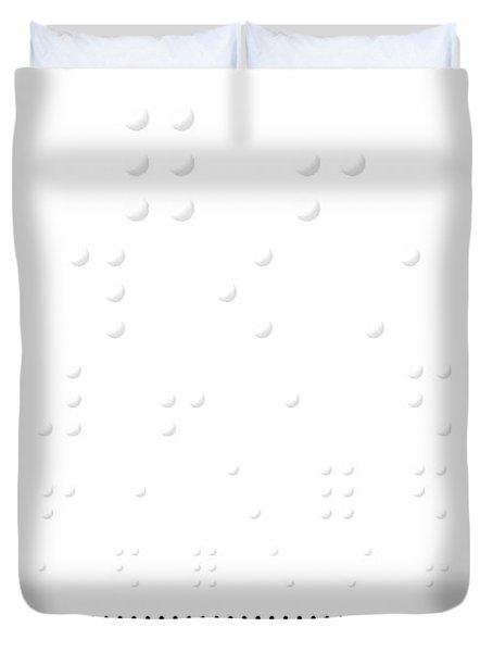 Snellen Chart - Braille Duvet Cover by Martin Krzywinski
