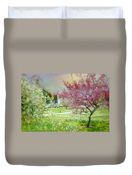 Duvet Cover featuring the photograph Solitude by Diana Angstadt