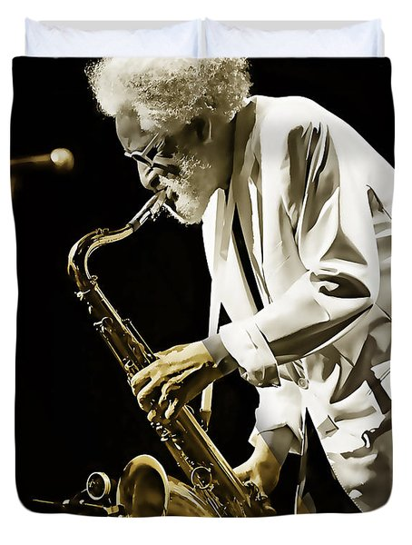 Sonny Rollins Collection Duvet Cover by Marvin Blaine