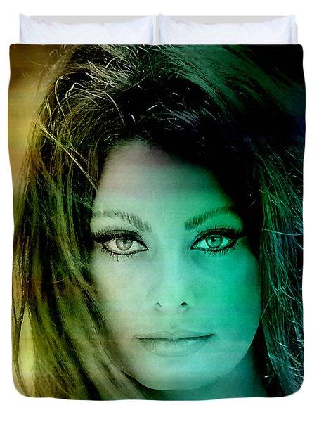 Sophia Loren Duvet Cover