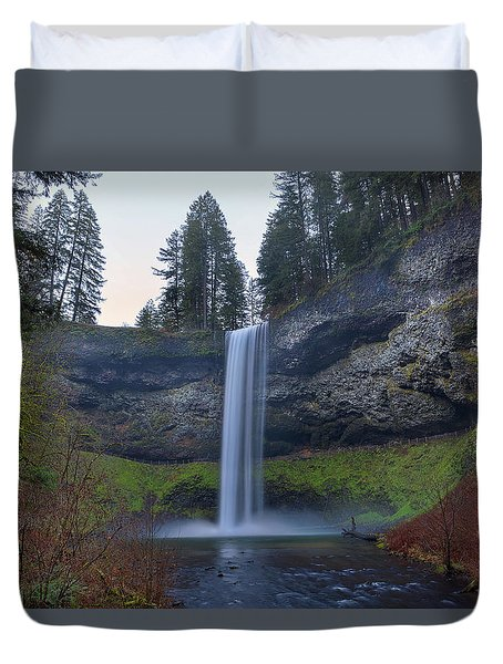 South Falls At Silver Falls State Park Duvet Cover