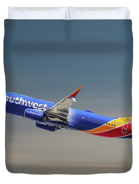 Southwest Airlines Boeing 737-8h4 Duvet Cover