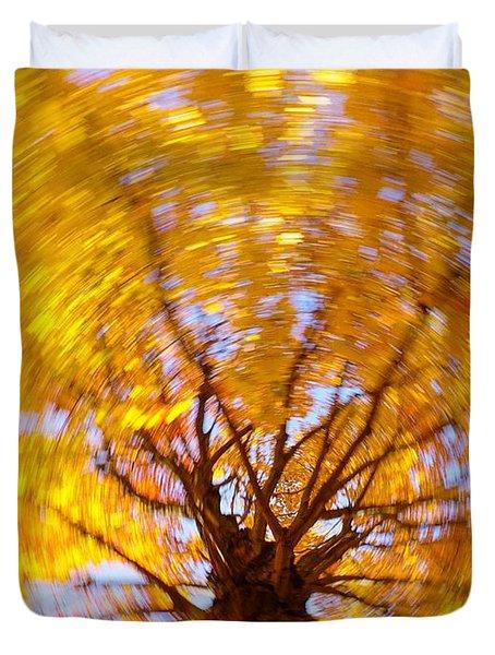 Spinning Maple Duvet Cover