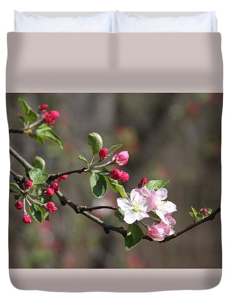 Duvet Cover featuring the photograph Blossom And Hope by Vadim Levin