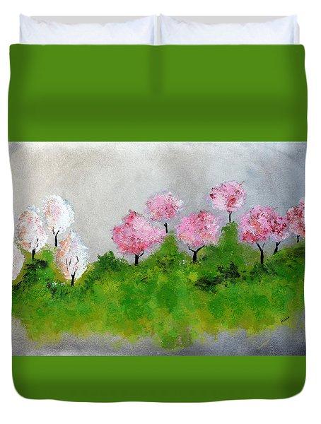 Spring Duvet Cover by Haleh Mahbod