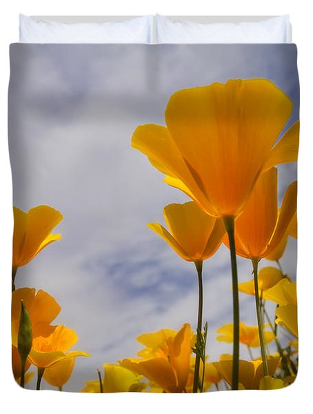 Springtime Poppies  Duvet Cover