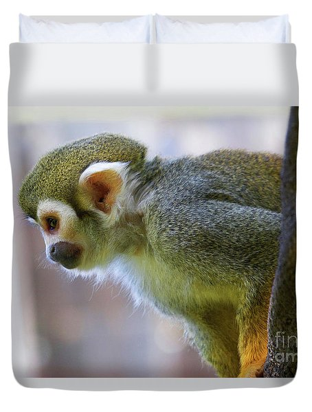 Squirrel Monkey Duvet Cover by Afrodita Ellerman