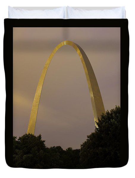 St Louis Arch At Dusk Duvet Cover