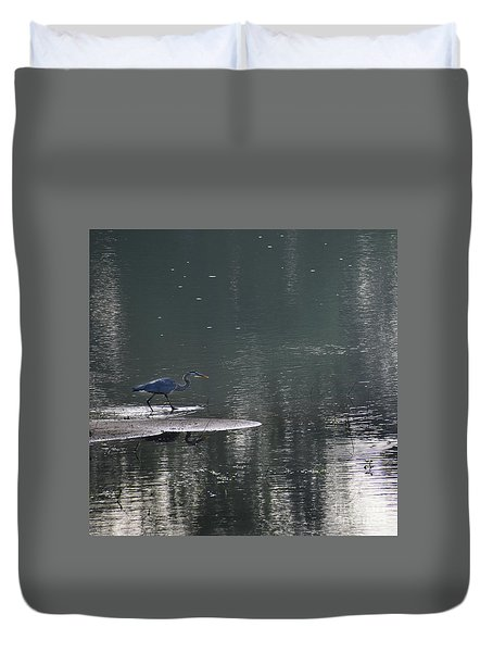Duvet Cover featuring the photograph Stalker  by Skip Willits