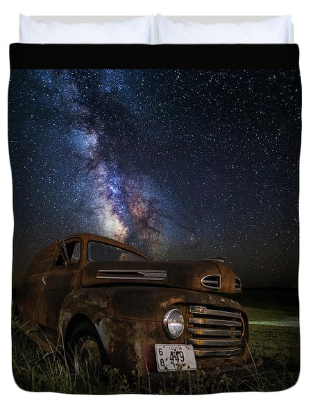 Stardust And Rust Duvet Cover by Aaron J Groen