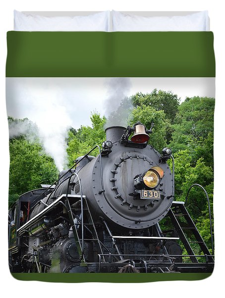 Steam Engline Number 630 Duvet Cover