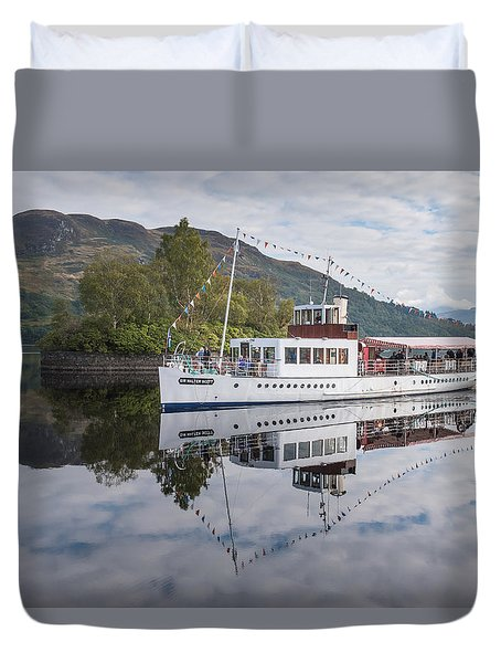 Steamship Sir Walter Scott On Loch Katrine Duvet Cover