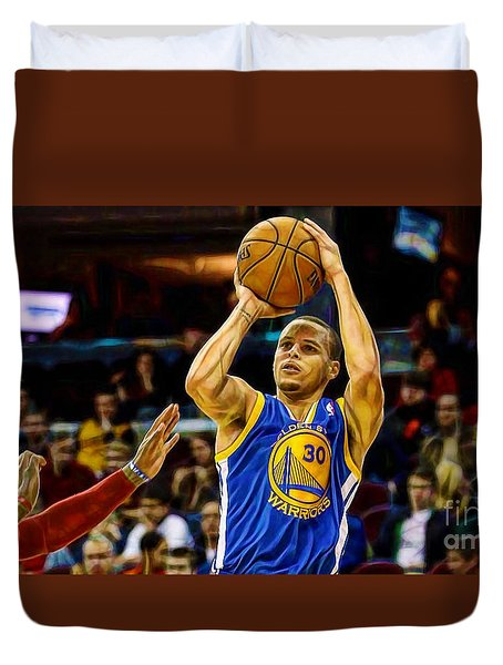 Steph Curry Collection Duvet Cover by Marvin Blaine