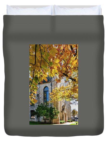 Stone Chapel Fall Duvet Cover