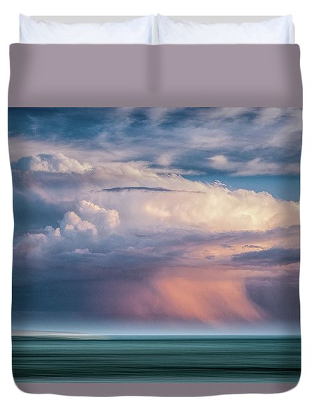 Storm On The Sound Duvet Cover