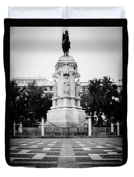 Streets Of Seville - Plaza Nueva Duvet Cover by Andrea Mazzocchetti