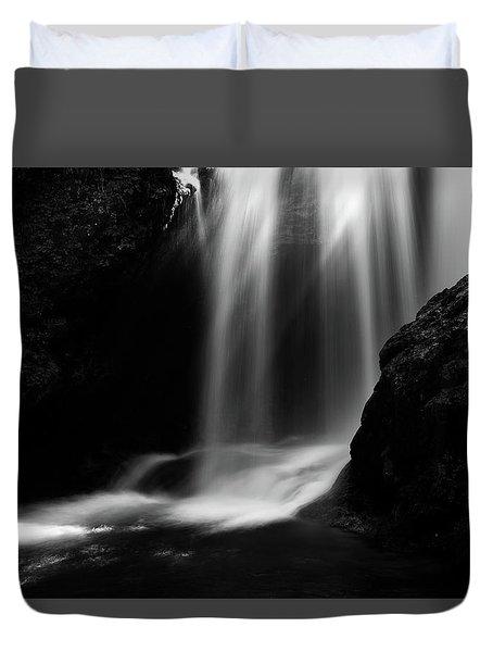 Sum Waterfall In Vintgar Gorge Duvet Cover