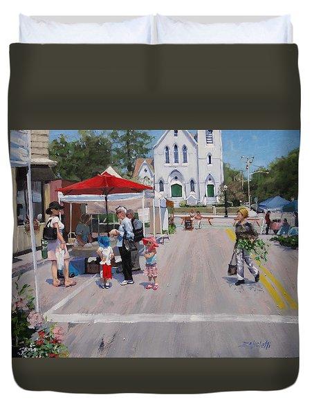 Summer In Hingham Three Duvet Cover