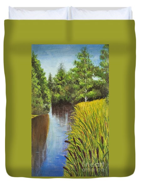 Summer Landscape, Painting Duvet Cover