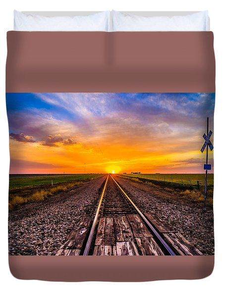 Sun Tracks Duvet Cover
