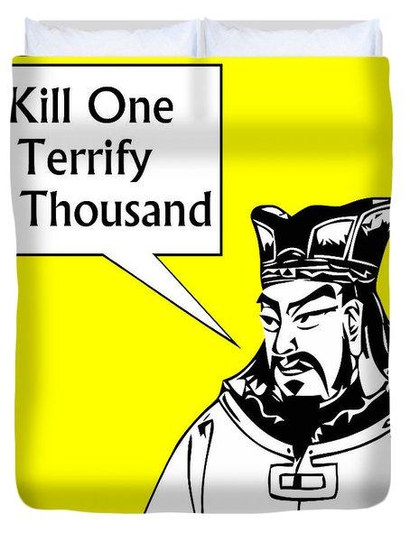 Sun Tzu Duvet Cover