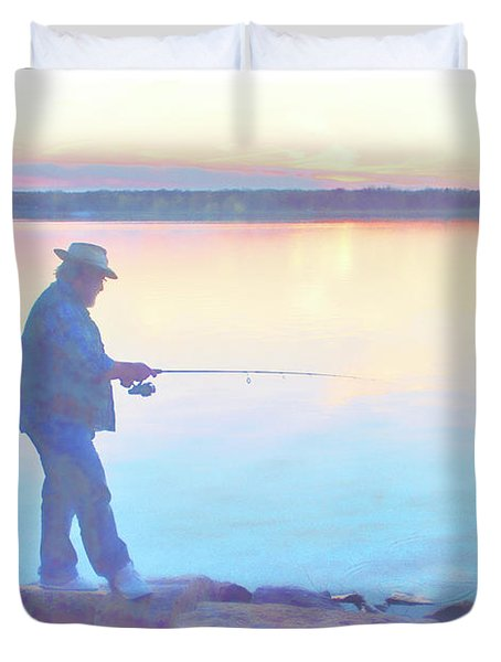 Sunrise Fisherman Duvet Cover