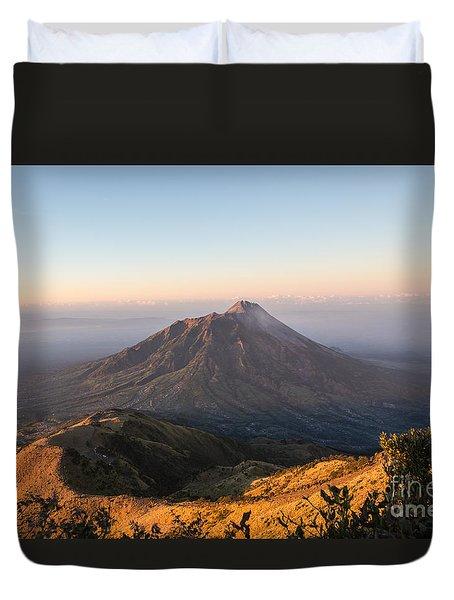 Sunrise Over Java In Indonesia Duvet Cover