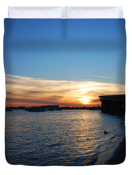 Duvet Cover featuring the photograph 2- Sunset In Paradise by Joseph Keane