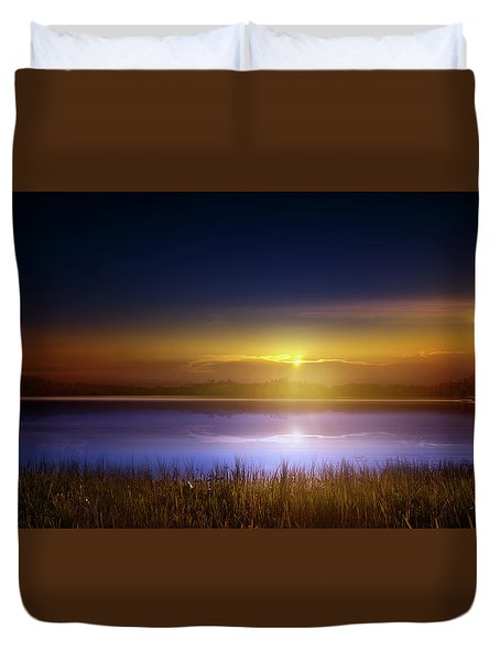 Sunset In The Glades Duvet Cover by Mark Andrew Thomas