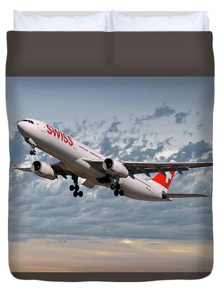 Swiss Airbus A330-343 Duvet Cover