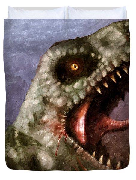T-rex  Duvet Cover by Pixel  Chimp