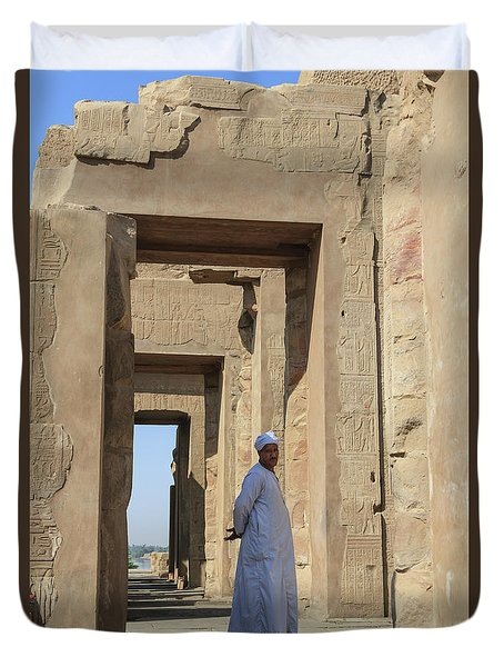 Duvet Cover featuring the photograph Temple Of Kom Ombo by Silvia Bruno