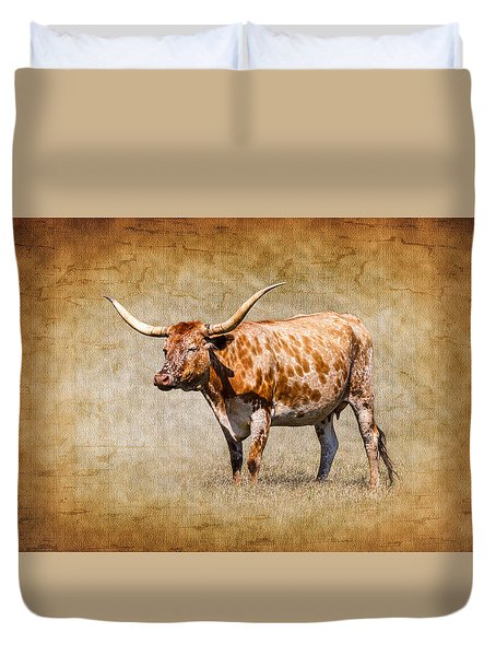 Texas Longhorn Duvet Cover by Doug Long