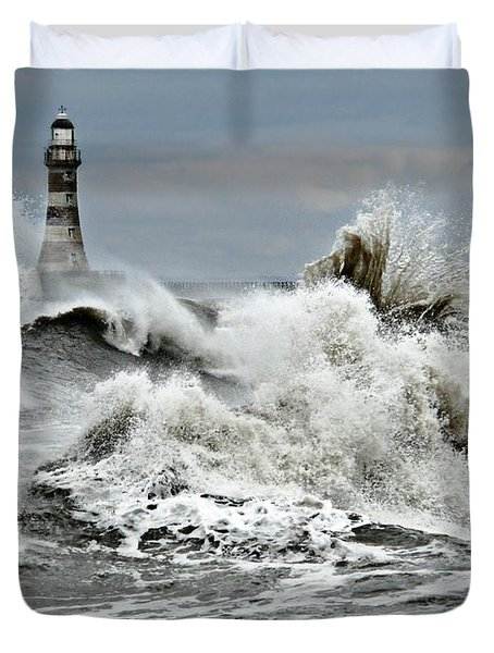 The Angry Sea Duvet Cover