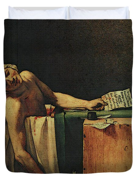 The Death Of Marat  Duvet Cover