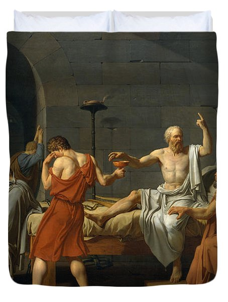The Death Of Socrates Duvet Cover