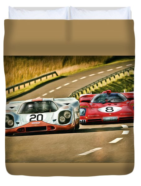The Duel Duvet Cover by Peter Chilelli