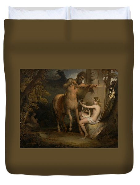 The Education Of Achilles Duvet Cover