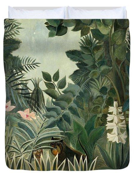 The Equatorial Jungle Duvet Cover