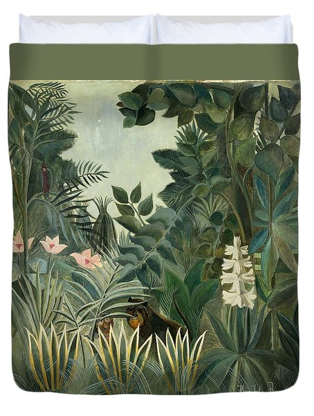 The Equatorial Jungle Duvet Cover