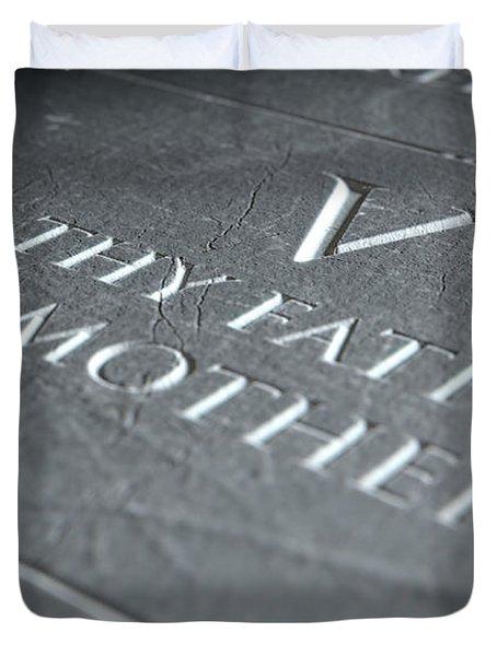 The Fifth Commandment Duvet Cover
