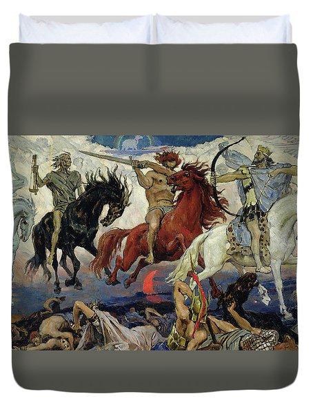 The Four Horsemen Of The Apocalypse Duvet Cover