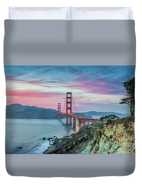 The Golden Gate Duvet Cover by JR Photography