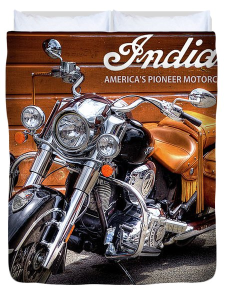 The Indian Motorcycle Duvet Cover