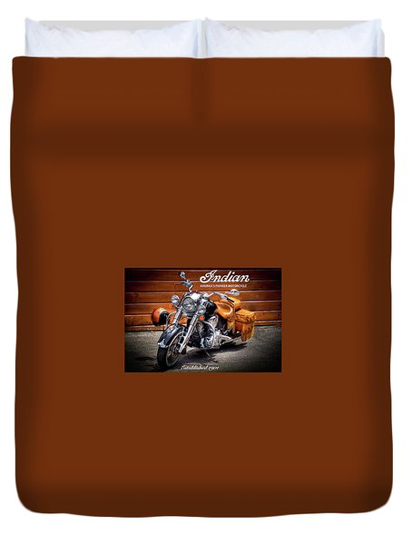 The Indian Motorcycle Duvet Cover by David Patterson