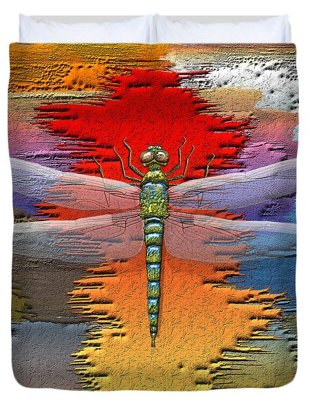 The Legend Of Emperor Dragonfly Duvet Cover by Serge Averbukh
