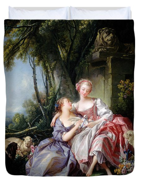 The Love Letter Painting by Francois Boucher