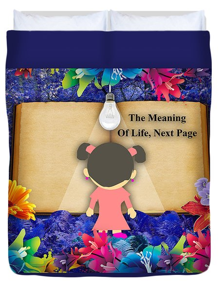 The Meaning Of Life Art Duvet Cover by Marvin Blaine