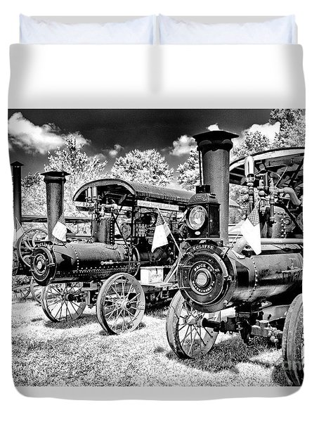Duvet Cover featuring the photograph The Old Way Of Farming by Paul W Faust - Impressions of Light